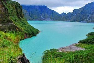 Lake Pinatubo at the volcano's crater